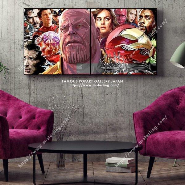 画像2: Avengers Endgame / アベンジャーズ / エンドゲーム [ポップアートパネル / Keetatat Sitthiket / Mサイズセット]
