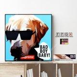 BAD BOY BABY / ドッグ アート [ポップアートパネル / Keetatat Sitthiket / Sサイズ / Mサイズ]