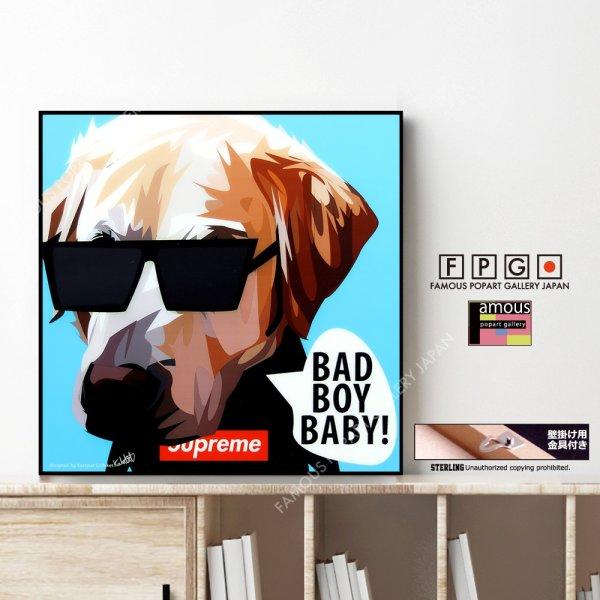 画像1: BAD BOY BABY / ドッグ アート [ポップアートパネル / Keetatat Sitthiket / Sサイズ / Mサイズ]