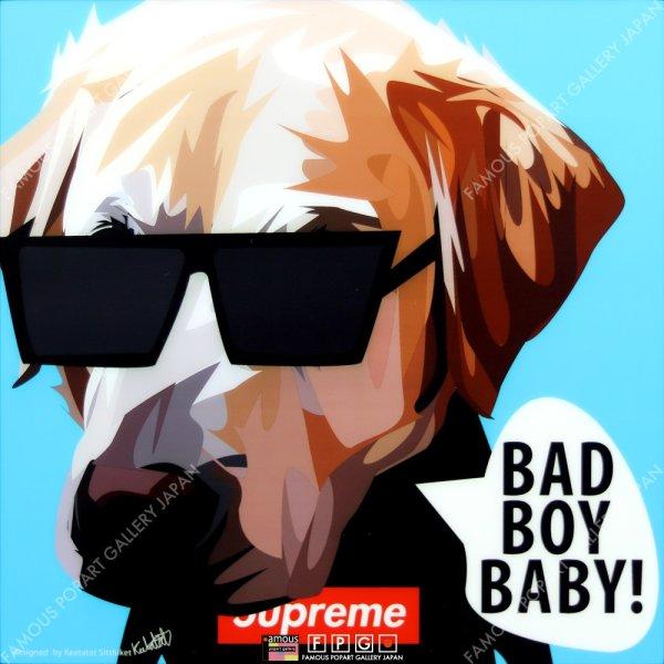 画像2: BAD BOY BABY / ドッグ アート [ポップアートパネル / Keetatat Sitthiket / Sサイズ / Mサイズ]