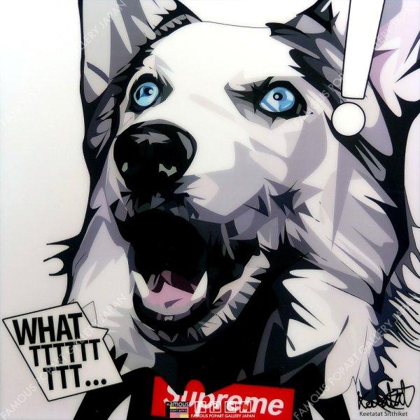 画像2: HUSKY/WHAT / シベリアン・ハスキー / ドッグ アート [ポップアートパネル / Keetatat Sitthiket / Sサイズ / Mサイズ]