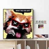 FOX / 狐 [ポップアートパネル / Keetatat Sitthiket / Sサイズ / Mサイズ]