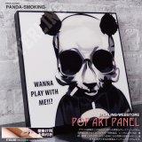 PANDA-SMOKING- / パンダ スモーキング [ポップアートパネル / Keetatat Sitthiket / Sサイズ / Mサイズ]
