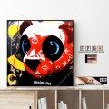 PANDA-LVSUP / パンダ ルブシュプ 熊 ベアー [ポップアートパネル / Keetatat Sitthiket / Sサイズ / Mサイズ]
