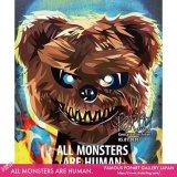 ALL MONSTERS ARE HUMAN. [ポップアートパネル / Keetatat Sitthiket / Sサイズ / Mサイズ]