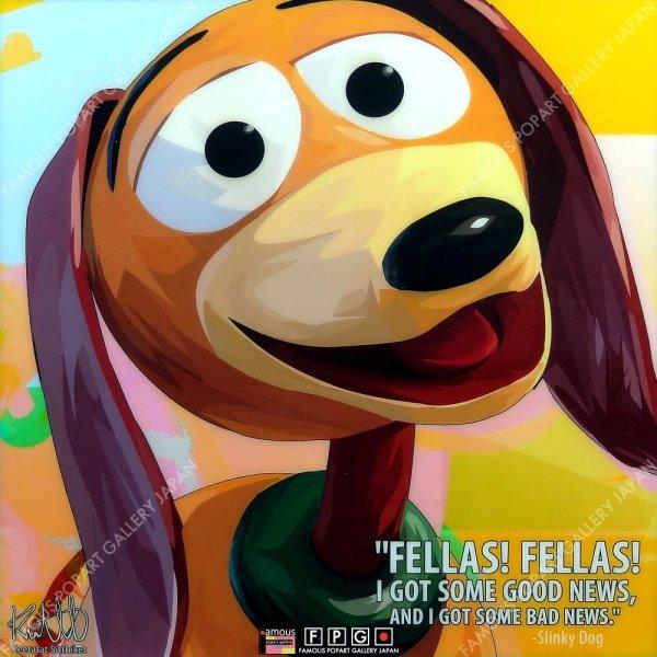 画像2: SLINKY DOG - Toy Story - / スリンキー・ドッグ / トイストーリー [ポップアートパネル / Keetatat Sitthiket / Sサイズ / Mサイズ]