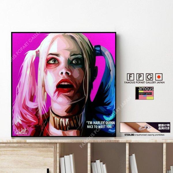 画像1: Harley Quinn2 / ハーレイ・クイン [ポップアートパネル / Keetatat Sitthiket / Sサイズ / Mサイズ]