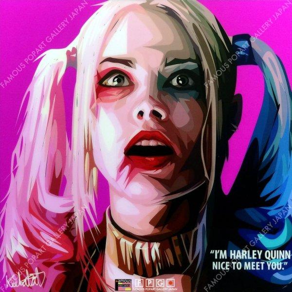 画像2: Harley Quinn2 / ハーレイ・クイン [ポップアートパネル / Keetatat Sitthiket / Sサイズ / Mサイズ]