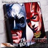 BATMAN & THE FLAS / バットマン&フラッシュ [ポップアートパネル / Keetatat Sitthiket / Sサイズ / Mサイズ]