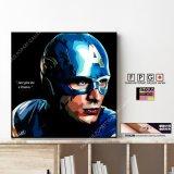 Captain America / キャプテン・アメリカ [ポップアートパネル / Keetatat Sitthiket / Sサイズ / Mサイズ]