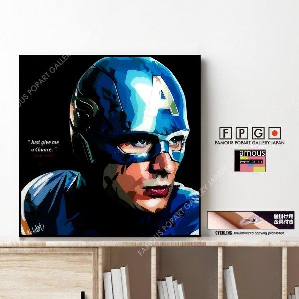 画像1: Captain America / キャプテン・アメリカ [ポップアートパネル / Keetatat Sitthiket / Sサイズ / Mサイズ]