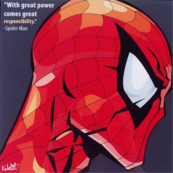 画像2: SpiderMan / スパイダーマン [ポップアートパネル / Keetatat Sitthiket / Sサイズ / Mサイズ]