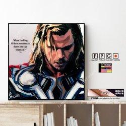 Thor / ソー [ポップアートパネル / Keetatat Sitthiket / Sサイズ / Mサイズ]