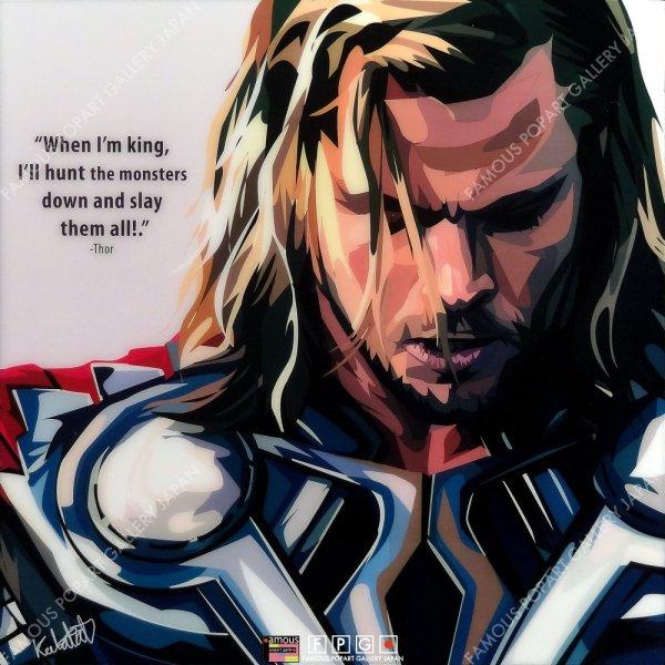画像2: Thor / ソー [ポップアートパネル / Keetatat Sitthiket / Sサイズ / Mサイズ]