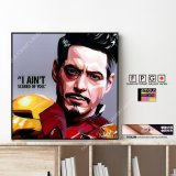 TONY STARK-Ver.4- / トニースターク / Iron Man / アイアンマン [ポップアートパネル / Keetatat Sitthiket / Sサイズ / Mサイズ]