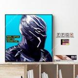 BLACK PANTHER / ブラックパンサー [ポップアートパネル / Keetatat Sitthiket / Sサイズ / Mサイズ]
