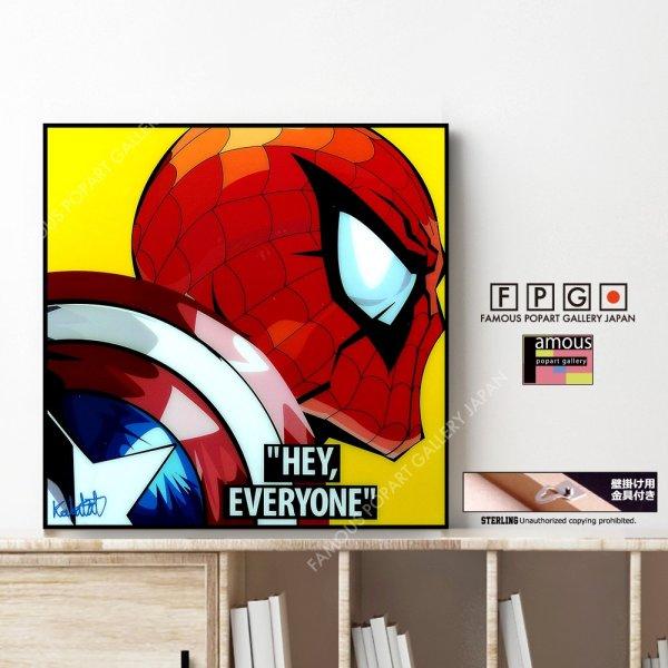 画像1: SPIDERMAN VER2 / スパイダーマン [ポップアートパネル / Keetatat Sitthiket / Sサイズ / Mサイズ]