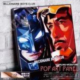 BATMAN & TONY STARK / バットマン&トニースターク [ポップアートパネル / Keetatat Sitthiket / Sサイズ / Mサイズ]