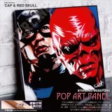 CAP & REDSKULL / キャプテンアメリカ / レッドスカル [ポップアートパネル / Keetatat Sitthiket / Sサイズ / Mサイズ]