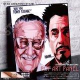 STAN LEE & TONY STANK / スタンリー トニースターク [ポップアートパネル / Keetatat Sitthiket / Sサイズ / Mサイズ]