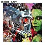 STARLORD-GAMORA / スター・ロード ガモーラ [ポップアートパネル / Keetatat Sitthiket / Sサイズ / Mサイズ]