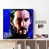 John Wick / ジョン・ウィック / Keanu Reeves / キアヌ・リーブス [ポップアートパネル / Keetatat Sitthiket / Sサイズ / Mサイズ]