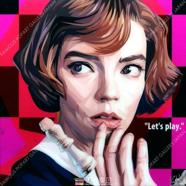 画像2: BETH HARMON -The Queen's Gambit- / ベス・ハーモン -クイーンズ・ギャンビット- [ポップアートパネル / Keetatat Sitthiket / Sサイズ / Mサイズ]