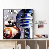 BB-8 & R2-D2 / ビービーエイト&アールツーディーツー [ポップアートパネル / Keetatat Sitthiket / Sサイズ / Mサイズ]