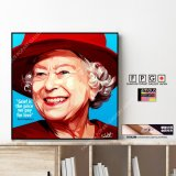 Queen Elizabeth / エリザベス女王 [ポップアートパネル / Keetatat Sitthiket / Sサイズ / Mサイズ]