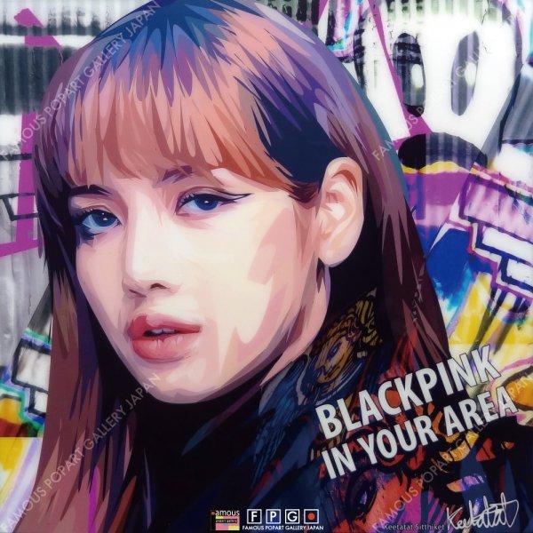 画像2: LISA -BLACKPINK- / リサ -ブラックピンク- [ポップアートパネル / Keetatat Sitthiket / Sサイズ / Mサイズ]