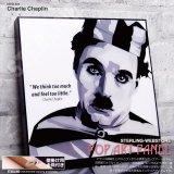 Charlie Chaplin / チャールズ・チャップリン [ポップアートパネル / Keetatat Sitthiket / Sサイズ / Mサイズ]