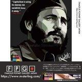 Fidel Castro / フィデル・カストロ [ポップアートパネル / Keetatat Sitthiket / Sサイズ / Mサイズ]