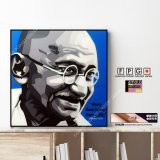 Mahatma Gandhi / マハトマ・ガンディー [ポップアートパネル / Keetatat Sitthiket / Sサイズ / Mサイズ]