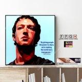Mark Zuckerberg -ver.1- / マーク・ザッカーバーグ [ポップアートパネル / Keetatat Sitthiket / Sサイズ / Mサイズ]
