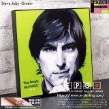 Steve Jobs -Green- / スティーブ・ジョブズ [ポップアートパネル / Keetatat Sitthiket / Sサイズ / Mサイズ]