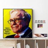 Warren Buffett / ウォーレン・バフェット [ポップアートパネル / Keetatat Sitthiket / Sサイズ / Mサイズ]