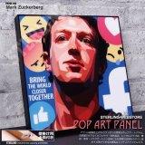 Mark Zuckerberg / マーク・ザッカーバーグ / Facebook / フェイスブック [ポップアートパネル / Keetatat Sitthiket / Sサイズ / Mサイズ]