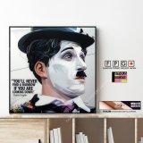 Charlie Chaplin -Ver.2- / チャールズ・チャップリン [ポップアートパネル / Keetatat Sitthiket / Sサイズ / Mサイズ]