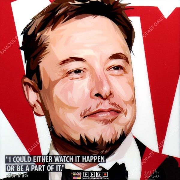 画像2: Elon Musk / イーロン・マスク [ポップアートパネル / Keetatat Sitthiket / Sサイズ / Mサイズ]