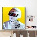 Thomas Bangalter Ver.2 - Daft Punk - / トーマ・バンガルテル - ダフトパンク - [ポップアートパネル / Keetatat Sitthiket / Sサイズ / Mサイズ]