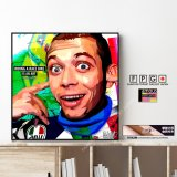 Valentino Rossi 46 / バレンティーノロッシ [ポップアートパネル / Keetatat Sitthiket / Sサイズ / Mサイズ]
