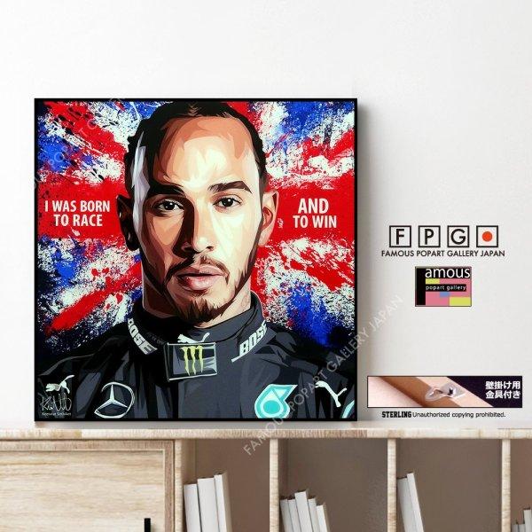 画像1: Lewis Hamilton / ルイス・ハミルトン [ポップアートパネル / Keetatat Sitthiket / Sサイズ / Mサイズ]