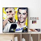 Paulo Dybala & Cristiano Ronaldo / パウロディバラ & クリスティアーノ・ロナウド / FORZA-JUVE  [ポップアートパネル / Keetatat Sitthiket / Sサイズ / Mサイズ]