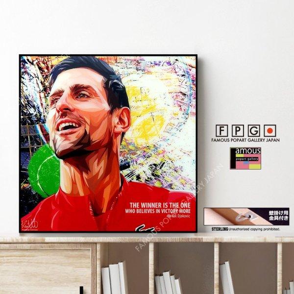 画像1: Novak Djokovic / ノバク・ジョコビッチ [ポップアートパネル / Keetatat Sitthiket / Sサイズ / Mサイズ]