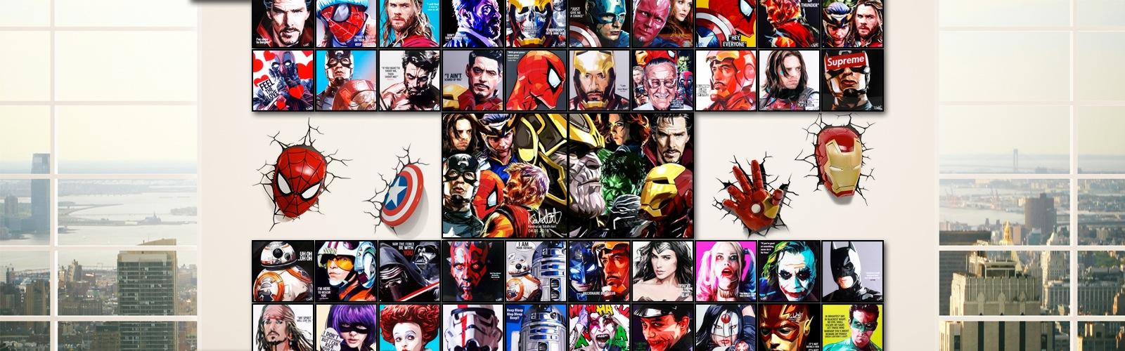 ポップアートパネル/ポップアートフレームの専門通販サイトFPGJの映画キャラクターカテゴリ